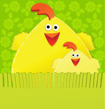 Handmade Easter card Royalty Free Stock Photo