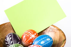 Handmade Easter Eggs Stock Image