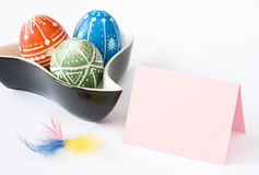 Handmade Easter Eggs Royalty Free Stock Images