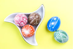 Handmade Easter Eggs Stock Photo