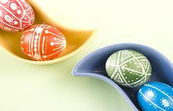 Handmade Easter Eggs Stock Photos