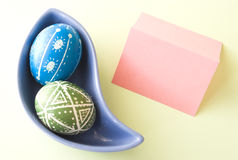 Handmade Easter Eggs Stock Photography