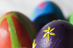 Handmade easter eggs Royalty Free Stock Photos