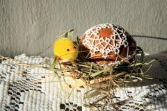 Tatting Easter eggs stock photo