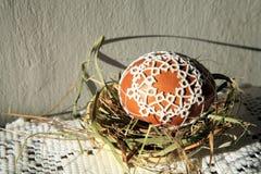 Tatting Easter eggs stock image