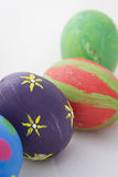 Handmade easter eggs Stock Images