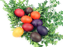 Handmade easter eggs Royalty Free Stock Photography