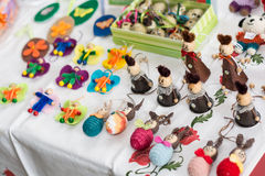 Handmade Easter items Stock Photography