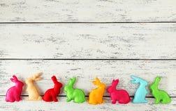 Handmade easter rabbits Stock Photography