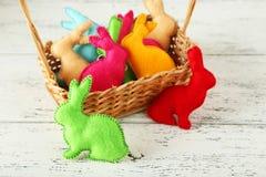 Handmade easter rabbits Royalty Free Stock Photo