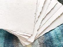 Handmade eco papier Zdjęcia Stock