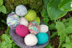 Handmade egg, Easter, holiday, knit Royalty Free Stock Image