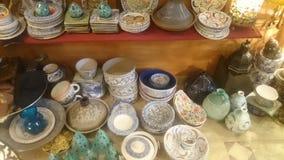 Handmade Egyptian pottery and Jewellery Stock Photography