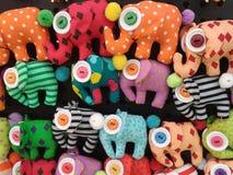 Handmade elephant dolls Stock Photography