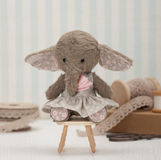 Handmade Elephant Soft Toy. Traditional Teddy Royalty Free Stock Photo