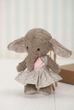 Handmade Elephant Soft Toy. Traditional Teddy Royalty Free Stock Photography