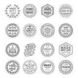 Handmade Emblems Linear Set Royalty Free Stock Photo