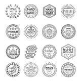 Handmade Emblems Linear Set Royalty Free Stock Photo