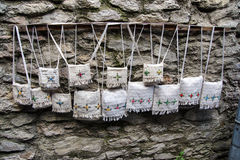 Handmade embroidered purses Stock Images