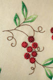 Handmade embroidery Stock Photo