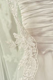 Handmade embroidery. Wedding dress with handmade embroidery Stock Photos