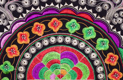Handmade embroidery. Ethnic  colorful embroidery, Asia style Royalty Free Stock Photo