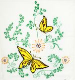 Ukrainian folk embroidery. Handmade embroidery, folk arts and crafts Royalty Free Stock Image