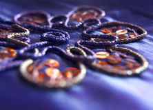 Handmade embroidery with sequins Royalty Free Stock Image