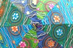 Handmade embroidery umbrella Stock Photo