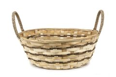 Empty basket on white background isolated stock image