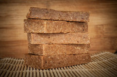 Handmade enery bars Stock Photos