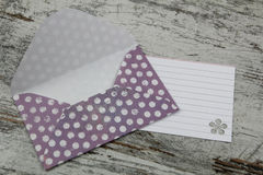 Handmade envelope and blank letter Royalty Free Stock Image