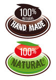 Handmade.eps. Hand-made and natural product label Stock Images