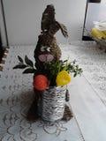Handmade ester bunny royalty free stock image