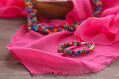 Handmade ethnic nepal jewellery Stock Image