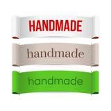 Handmade etykietki wektor Zdjęcie Royalty Free