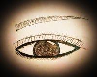 Handmade Eye Painting Background