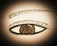 Handmade Eye Painting Background royalty free stock photography
