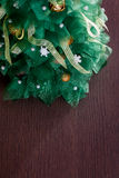 Handmade Fabric Christmas Tree Stock Images