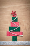 Handmade fabric Christmas tree. Royalty Free Stock Photography