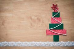 Handmade fabric Christmas tree. Royalty Free Stock Images