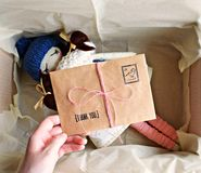 Rag doll packaging royalty free stock image