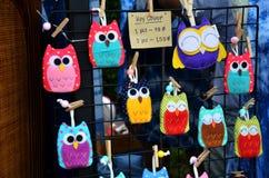 Handmade fabric key ring Stock Photo