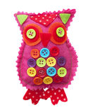 Handmade fabric owl Royalty Free Stock Image