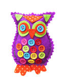 Handmade fabric owl Royalty Free Stock Photography