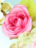 Fabric pink rose flower Stock Image