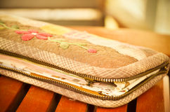 Handmade of fabric purse,Quilting purse Royalty Free Stock Image