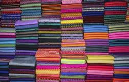 Handmade fabrics of different colors, Pakokku,Myanmar Stock Image