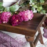 Handmade fake pink rose Royalty Free Stock Image