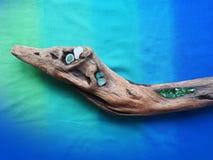 Handmade fantastic animal using sea goods , Lithuania royalty free stock images